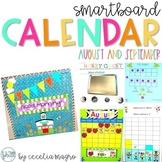 August/September SMARTBoard Calendar ***Common Core Aligne