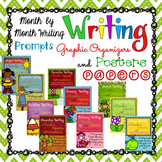 Month By Month Writing Prompts, Graphic Organizers, Poster