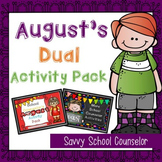 August's Dual School Counselor Activity Pack - Savvy Schoo