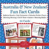 Australia and New Zealand Fact Cards - Unit Extension Acti