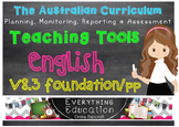 Australian Curriculum English Foundation Monitoring and Pl