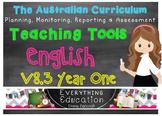 Australian Curriculum English YEAR 1 Monitoring and Planni