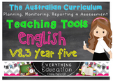 Australian Curriculum English YEAR 5 Monitoring and Planni