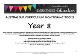 Australian Curriculum English YEAR 8 Monitoring and Planni