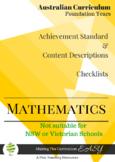 Australian Curriculum Checklists - Foundation Maths