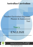Australian Curriculum Organiser English (editable) - Y3