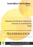 Australian Curriculum Organiser Maths (editable) - Y5