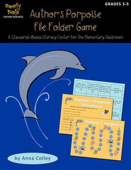 "Author's ""Porpoise"" File Folder Game (author's purpose center)"