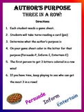 Author's Purpose - 3 In  a Row Game