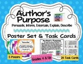 Author's Purpose Posters, Task Cards: Persuade Inform Ente