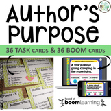 Author's Purpose Task Cards Scoot and Assessment