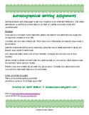 Autobiography Writing Assignments