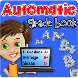 Automatic Grade Book | Excel Grade Book | Number Grades AN