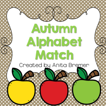 Autumn Alphabet Match