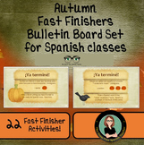 Autumn Fast Finishers Bulletin Board Set for your Spanish Class!