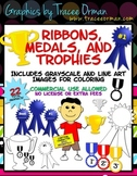 Awards Clip Art: Ribbons, Medals, & Trophies for Commercial Use