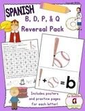 B, D, P, and Q Letter Reversal Practice (Spanish)