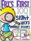 SIGHT WORD SENTENCE CARDS-FRY'S FIRST 100 STYLE 1. BACK TO SCHOOL