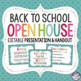 BACK TO SCHOOL MEET THE TEACHER NIGHT PRESENTATION (Open House)