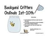 ORDINAL NUMBERS: BACKYARD CRITTERS