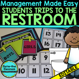 BATHROOM CARDS for CLASSROOM MANAGEMENT-BLACKLINE DESIGN
