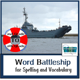 BATTLESHIP SPELLING for WORD STUDY and VOCABULARY