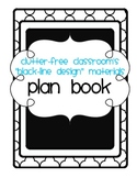 BLACKLINE DESIGN- TEACHER PLANBOOK (teacher planning sheet