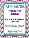 B,M,E Sub Tub {Prep Once, Have Emergency Plans All Year!}