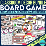 BOARD GAMES Classroom Theme EDITABLE Decor-34 Product Bundle
