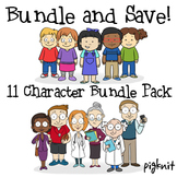 BUNDLE -- Adults and Students Clip Art Pack | 6 Profession