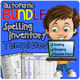 BUNDLE Automatic Spelling Inventory Templates