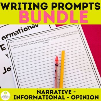 Writing Prompts BUNDLE Opinion Expository Narrative 15 Minute Quick Write