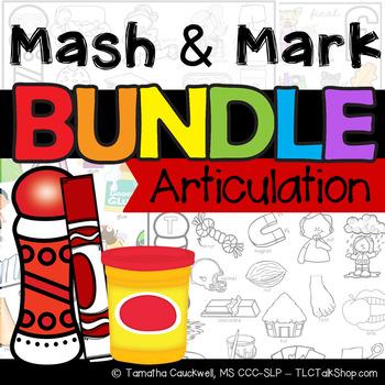 BUNDLE: Speech Sound Play dough Mats