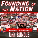 BUNDLE Founding of the Nation PART I  (U.S. History) Commo