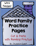 BUNDLE: Short Vowel Families Word Family Cut, Paste & Read