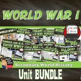 BUNDLE: World War I Unit Plan (World History)Common-Core Aligned!