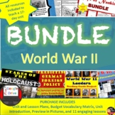BUNDLE: World War II(World History)Common-Core Aligned!