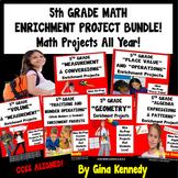5th Grade Common Core Math Enrichment Projects! BUNDLE