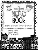 B&W Editable HERO Book/Binder (Helping Everyone Remain Organized)