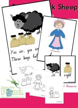 Baa Baa Black Sheep - Nursery Rhyme Teaching Resource