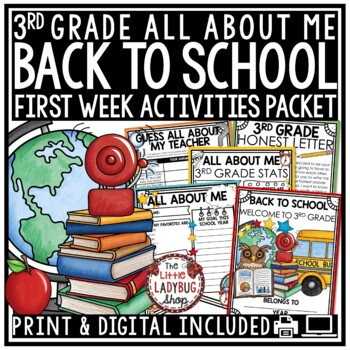 Back To School Activity Packet {3rd Grade- NO PREP}