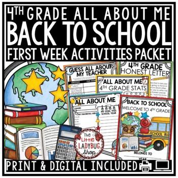 Back To School Activity Packet {4th Grade- NO PREP}