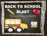 Back To School Blast {First Grade Literacy Unit}