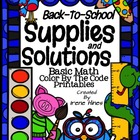 Back To School ~ Color By The Code Math Puzzle Printables~