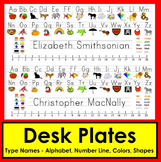 Back To School Desk Name Plates-Downloadable Print Clearly