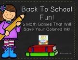 Back To School Math ~ Ink Saving Math Centers!