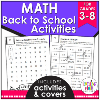Back To School NO PREP Math FREEBIE