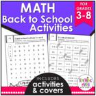 Back To School NO PREP Math FREEBIE