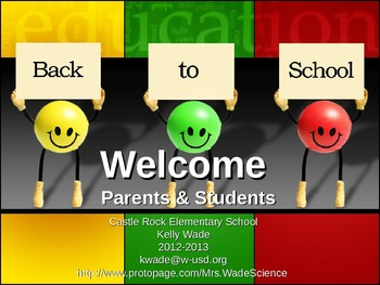 Back-To-School Night ~ Parent Presentation