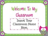 Open House Owl Themed Powerpoint Template